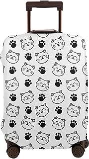 猫 キャラクター スーツケースカバー 伸縮弾性素材 スーツケース保護カバー ラゲッジカバー 通気性 傷防止 防塵カバー S-XL