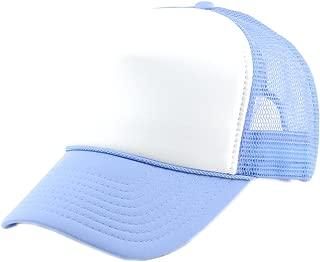 Blank Mesh Adjustable Snapback Cotton 6-Panel Trucker Hat Cap