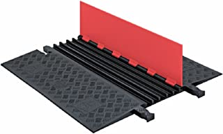 Guard Dog GD5X75-O/B Polyurethane Heavy Duty 5 Channel Low Profile Cable Protector with ADA Compliant Ramp, Orange Lid with Black Ramp, 36