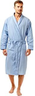 Haigman Mens Lightweight Poly Cotton Dressing Gown Robe Tie Front Pockets Size Medium to XXL