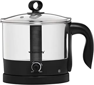 Butterfly Wave 1.2-Litre Multi Cooker (Silver with Black)