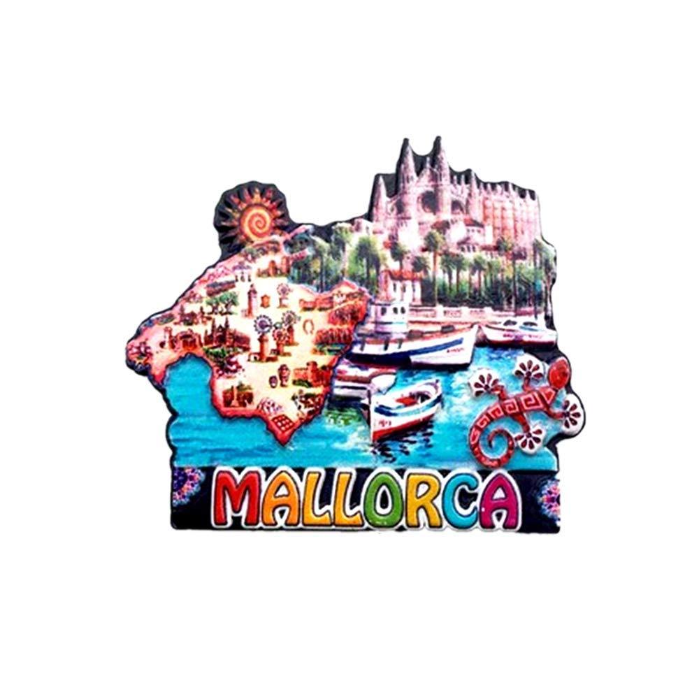 Time Traveler Go Mallorca - Imán para nevera (resina, 3D, mapa de España), diseño de mapa de España: Amazon.es: Hogar