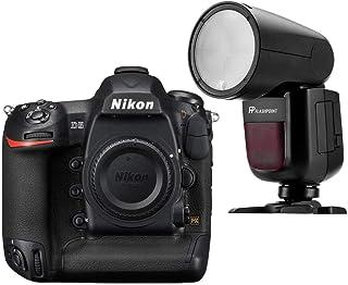 Nikon D5 DSLR Camera (Body Only, Dual XQD Slots) - with Flashpoint Zoom Li-on X R2 TTL On-Camera Round Flash Speedlight (V1)