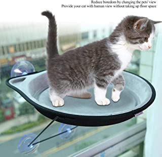 Durable Cat Resting Suction Cup Hanging Nest, Cat Perch Pet Hanging Nest, Coffee Shop for Home Pet House(Gray)