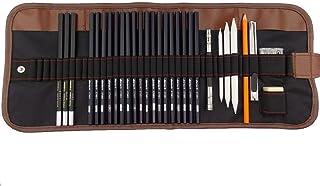 Esbozo Lápiz Set, 30 Piezas Dibujo Lápiz Dibujo Lápices Set para Artistas Adultos Infantil Incluyen Lápices, Carbón Lápices, Lienzo Lápiz Bolsa y Accesorios