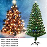 OUYAWEI Tycolit Iron Stand Green Full Light Optical Fiber Christmas Tree Indoor Decoration European Regulation  D: 210CM (EN0126204)