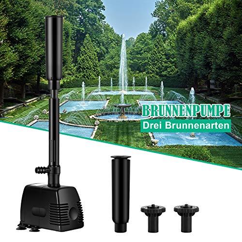 Forever Speed Springbrunnenpumpe Wasserspielpumpe Teichpumpe Fontäne Wasserpumpe Fontäne Gartenpumpe Bachlaufpumpe 1000L/h
