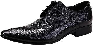 [ONE MAX] ビジネスシューズ メンズ クロコダイル柄 本革 ウォーキング 紳士靴 ドレスシューズ おしゃれ 大きいサイズ フォーマル 通勤