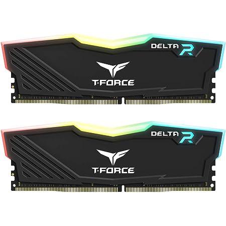 TEAMGROUP T-Force Delta RGB DDR4 16GB (2x8GB) 3200MHz (PC4-25600) CL16 Desktop Memory Module ram TF3D416G3200HC16CDC01 - Black