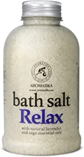 Sponsored Ad - Relaxing Bath Salts w/Lavender & Sage Essential Oils 600g - Natural Bath Sea Salts - Bath Salt Relax - Best...