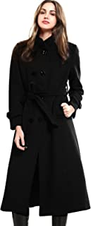long black wool trench coat