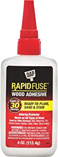 DAP 00157 4 Ounce Rapid Fuse Fast Curing Wood Adhesive 6 Pack