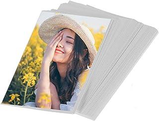 100 hojas 4x6in Papel fotográfico para impresión láser a ambos lados adecuado para imprimir fotos/invitaciones/tarjetas postales/tarjetas de índice/cartulina/stock de portadas
