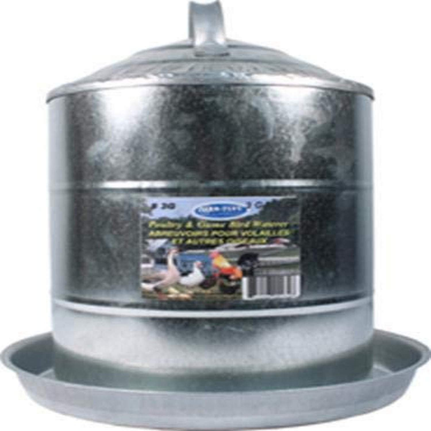 Galvanized Super Regular store popular specialty store Poultry Fountain