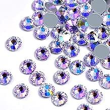 Dowarm 1440 Pieces Hotfix Crystal Rhinestones for Clothes Crafts, Hot Fix Glue on Flatback Crystals, Iron on Crystal Rhinestone (Moonlight/Starry Sky, SS16)
