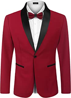 COOFANDY Men's Casual Double-breasted Blazer Jacket Button Solid Sport Coat