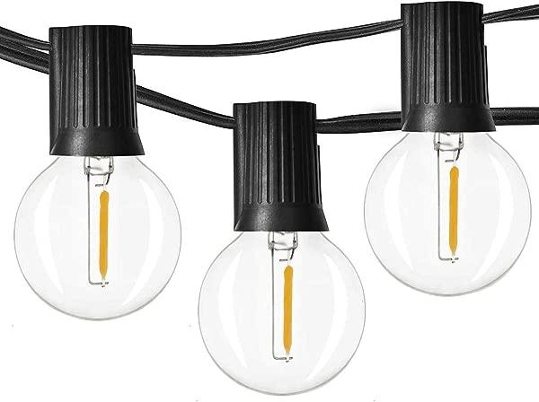 Newpow 2500 LED 球形灯可调光 25 G40 复古爱迪生 LED 灯泡 2 额外 1W 60Lm K 温暖辉光室内室外装饰和照明黑色 UL 上市
