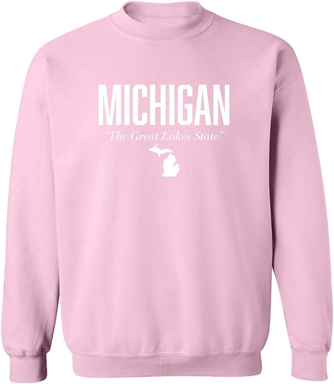 Michigan The Great Lakes State Crewneck Sweatshirt