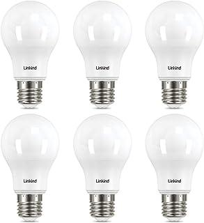 Linkind 8.2W LED Lampe, 60W Glühlampe ersetzt, 2700K Warmweiß Birne E27, 806Lm 200° Abstrahlwinkel, nicht dimmbar, ErP, CE...