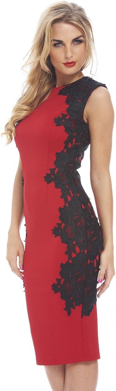 AX Paris Women's Lace Side Bodycon Dress