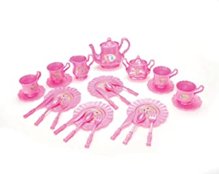 Liberty Imports Princess Tea Party Set with Pretend Play Pink Tea Pots and Kitchen Utensils (29 pcs)