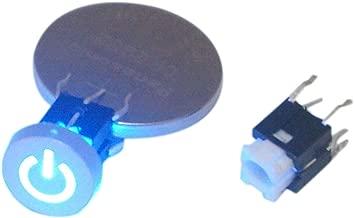 5pcs Blue LED Cap Power 12V Momentary Tact Push Button Switch 6x6x9.5mm