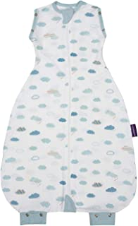 ClevaMama Nite Baby Romper, Newborn and Baby Swaddle Bag 100% Cotton (0-9 Months) - Blue
