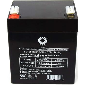 Amazon Com 12v 4 5ah Sealed Lead Acid Sla Replacement Battery For Craftsman Garage Door Opener 53918d Home Audio Theater