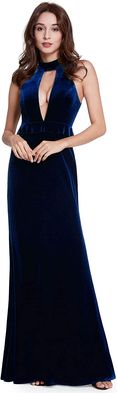 In a popularity New Free Shipping Ever-Pretty Women's Deep V-Neck Halter Maxi Neck Party D Evening