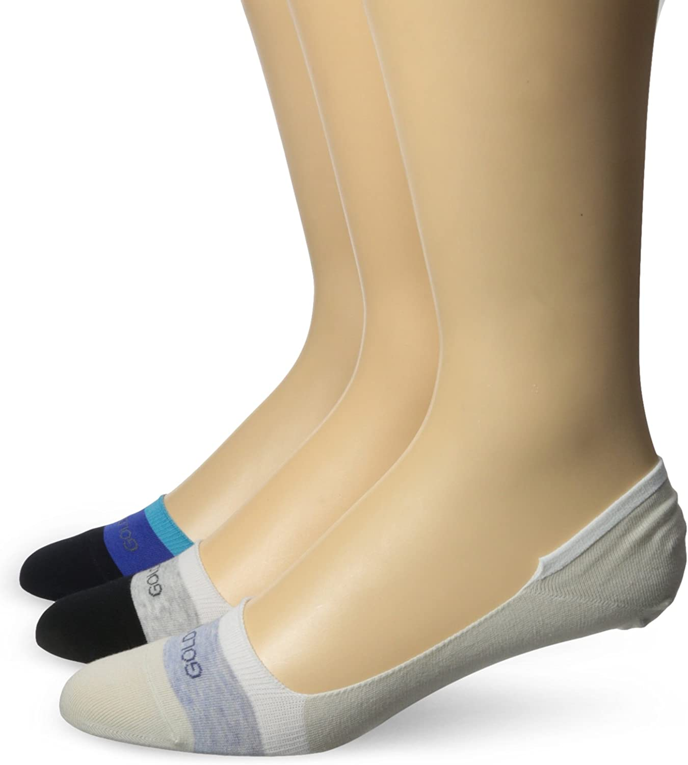 Gold Toe Men's Color Block Penney No Show Extended Size Sock 3-Pack