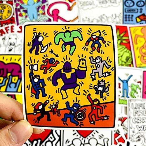 FSVGC Street Art Sticker Personality Western Style Cartoon Decal Snowboard Laptop Luggage Car Sticker