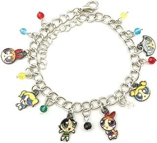 Athena Brand The Powerpuff Girls Charm Bracelet Quality Cosplay Jewelry Cartoon TV Series with Gift Box