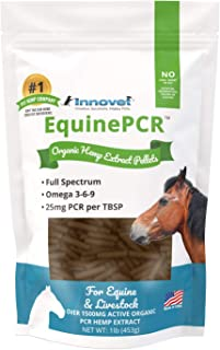 INNOVET Equine PCR Hemp Pellets for Horses - Natural Equine Pellets Relieves Joint Pain & Discomfort | Reduces Stress, Inflammation & Supports Performance - 1 lb Bag