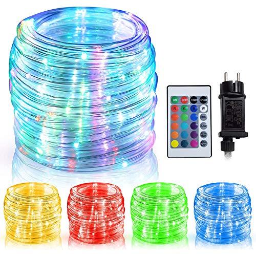 WOWDSGN Guirnalda Luz Color Tubo, 150 LEDs 15 m +