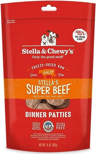 Stella Chewy S Freeze Dried Raw Stella S Super Beef Dinner Patties Grain Free Dog Food