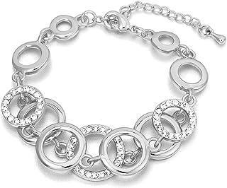 Bracciale per donna, anelli Bracciale a catena per ragazze Bracciale in oro e argento placcato braccialetto Coppie Friends...