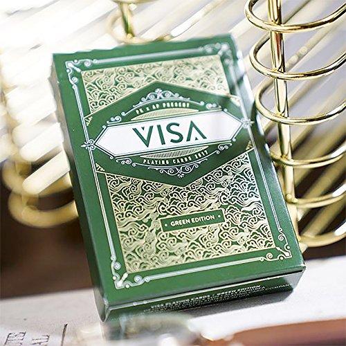 SOLOMAGIA Green Visa Playing Cards - Kartenspiel