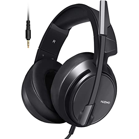 Micolindun ゲーミングヘッドセットps4ヘッドセットマイク付き有線軽量通気高音質ヘッドフォンノイズキャンセリングゲーミングヘッドホン重低音強化騒音抑制伸縮可能3.5mmFPSゲーム用PC用男女兼用XboxOne/PUBGに最適 対応 N12 ブラッ