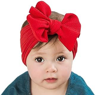 Baywell 3 Pcs Bandeau B/éb/é Fille Enfants Bande Cheveux Arc /élastique Boh/ême Coiffe Bowknot Bapt/ême Bonnets Bandeau N/œud Papillon
