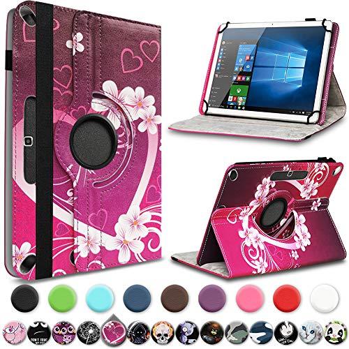 UC-Express Tablet Hülle kompatibel für Xiaomi Mi Pad 4 Plus Tasche Schutzhülle Cover Schutz Hülle 360° Drehbar 10.1 Zoll Klapphülle, Farben:Motiv 8