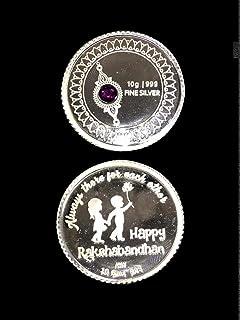 Raksha Bandhan Gift Coin 10 Grams In Pure Silver 999 Rakhee Gift Brother Sister Bond Rakhi Gift Love Charm Delivery Within...