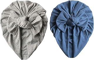 ZEVONDA Nouveau-né Bébé Filles Garçons Chapeau - Enfants chapeaux Noeud en Coton Doux Casquette Turban Tête Wrap Bonnet Ba...