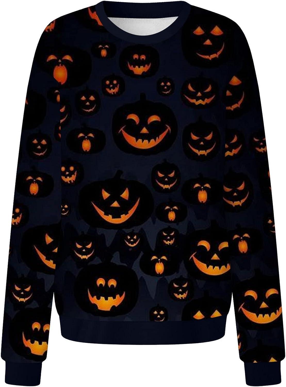 Halloween Women Long Sleeve Top,Womens Shirt,Womens Cute Sweatshirts Skateboarding Frog Long Sleeve Hoodie Pullover Tops