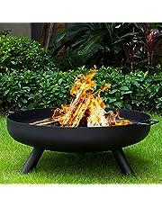 FMXYMC Tazón de Fuego al Aire Libre para Quemar leña, Fuego Redondo Extra Grande, Chimenea de Metal Resistente para Quemar carbón, Estufa de Hierro Fundido a Prueba de óxido,31inch(80cm)