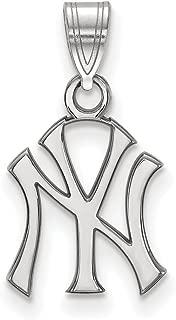MLB New York Yankees Sterling Silver MLB LogoArt New York Yankees Small Pendant Size One Size