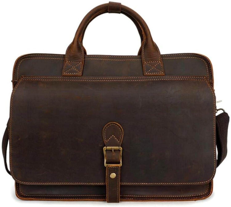 HUBAOTAI Herrenhandtasche Leder Leder Leder Freizeit Aktentasche stilvolle einzelne Umhängetasche, Umhängetasche, mehrere Fach B07MQNX6MW c55b49