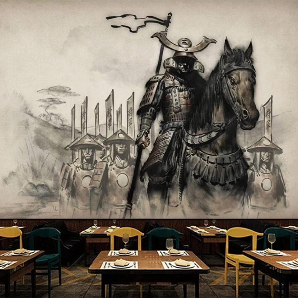 Custom Photo Wallpaper 3D Chinese Samurai Style Sales Manufacturer direct delivery Retro Restaurant