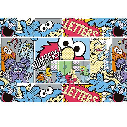 Comic Book Background Tabletop 7x5 Vinyl Sesame Street Party...