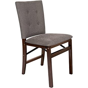 Set of 2 Meco Industries MECO 0684.6H792 STAKMORE Queen Anne Folding Chair Cherry Finish