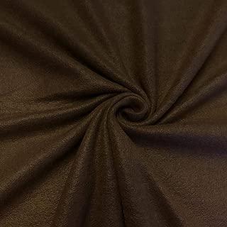 Best dark brown fleece fabric Reviews